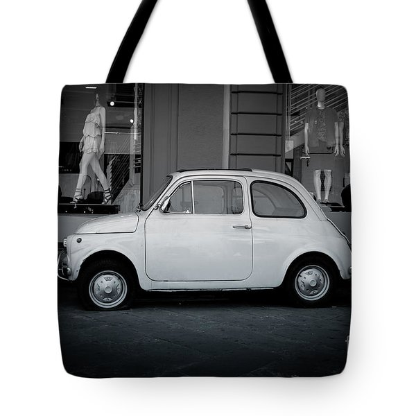 Old Fiat On The Streets Of Florence Tote Bag by Edward Fielding