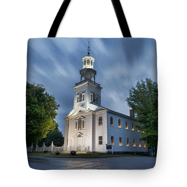 Old First Church Of Bennington Tote Bag