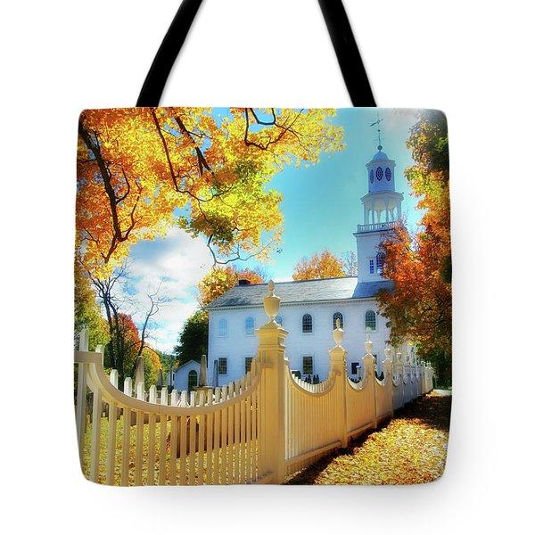 Old First Church Of Bennington Tote Bag