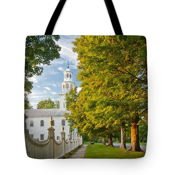 Old First Churchin Bennington Tote Bag