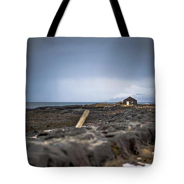 Old Fisherman's Coastal House Tote Bag
