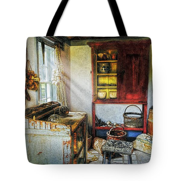 Old Fishermans Hut Tote Bag by Ian Mitchell