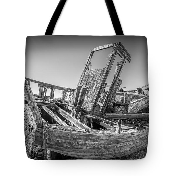 Old Fishing Boat. Tote Bag