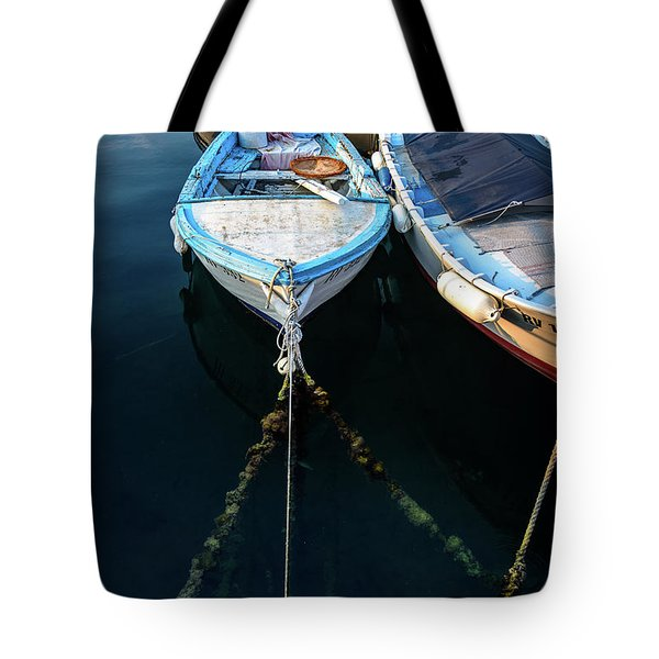 Old Fishing Boats Of The Adriatic Tote Bag