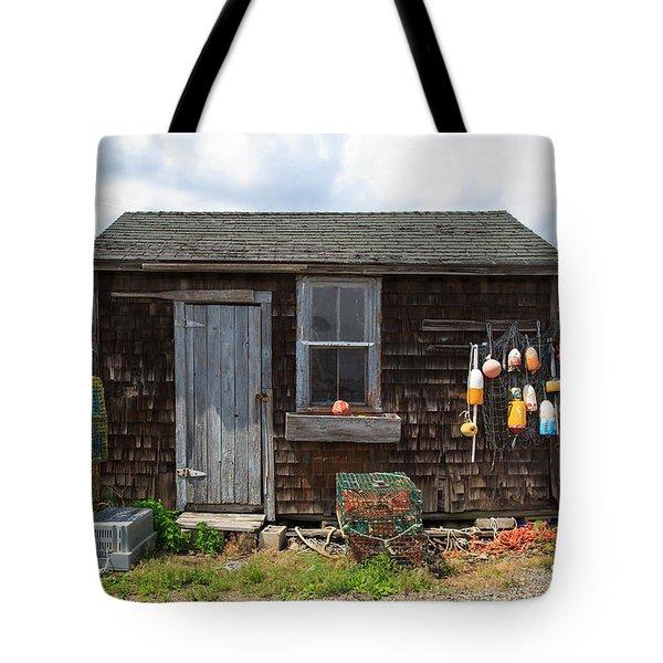 Old Fishing  Houses  Tote Bag