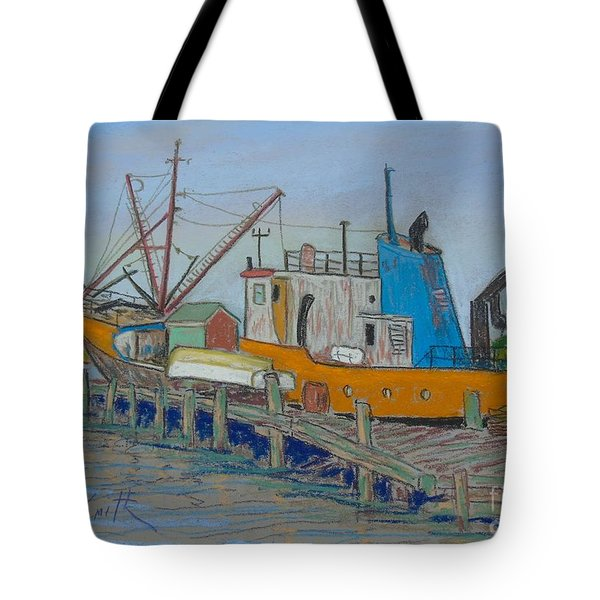 Old Fishing Trawler Tote Bag