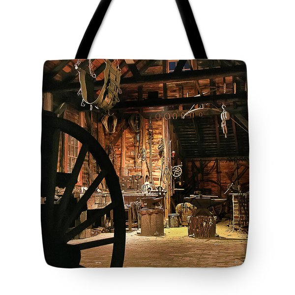 Tote Bag featuring the photograph Old Forge by Tom Cameron
