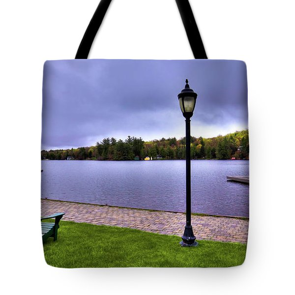 Old Forge Waterfront Tote Bag by David Patterson
