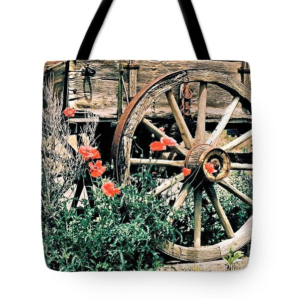 Old Freight Wagon Tote Bag