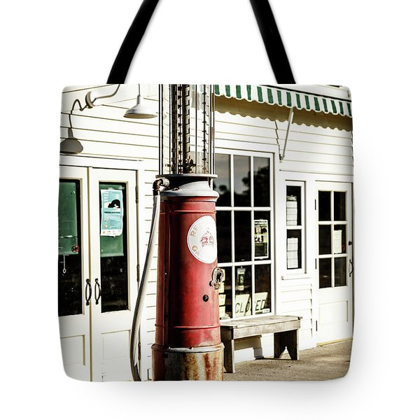 Tote Bag featuring the photograph Old Fuel Pump by Alexey Stiop