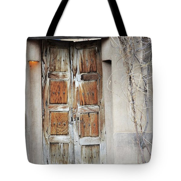Tote Bag featuring the photograph Old Gallery Door by Andrea Hazel Ihlefeld