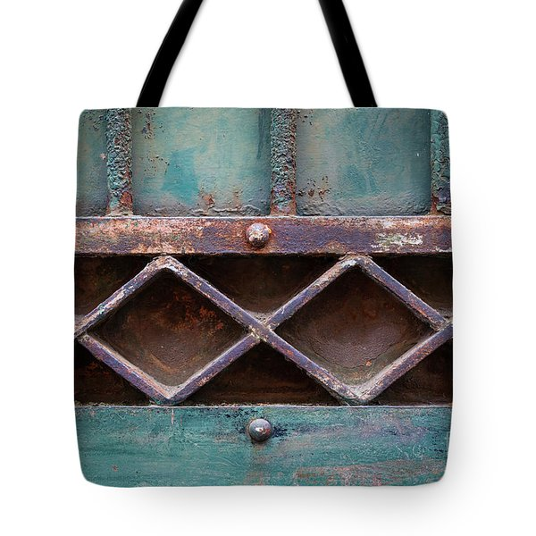 Tote Bag featuring the photograph Old Gate Geometric Detail by Elena Elisseeva