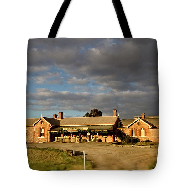 Tote Bag featuring the photograph Old Ghan Railway Restaurant by Douglas Barnard