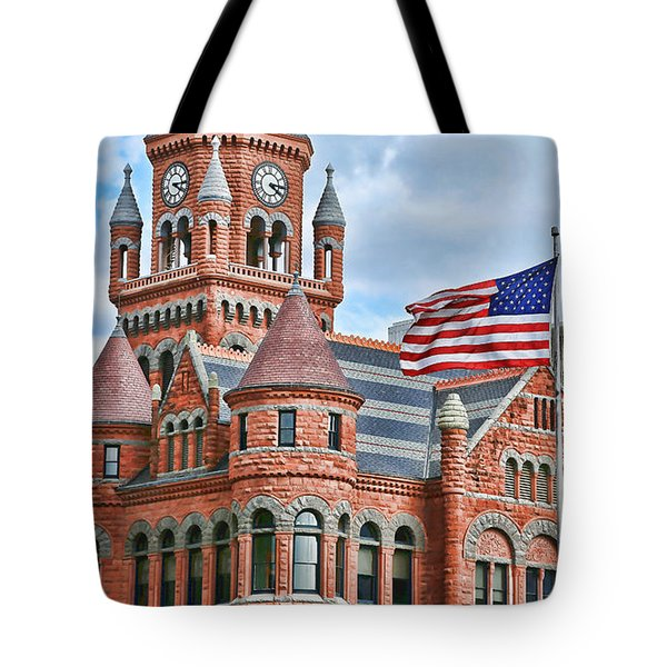 Old Glory And Old Red Tote Bag