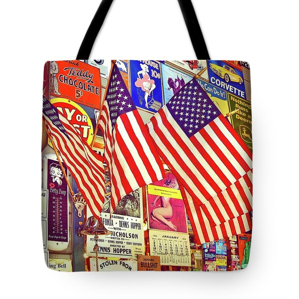 Tote Bag featuring the photograph Old Glory by Joan Reese