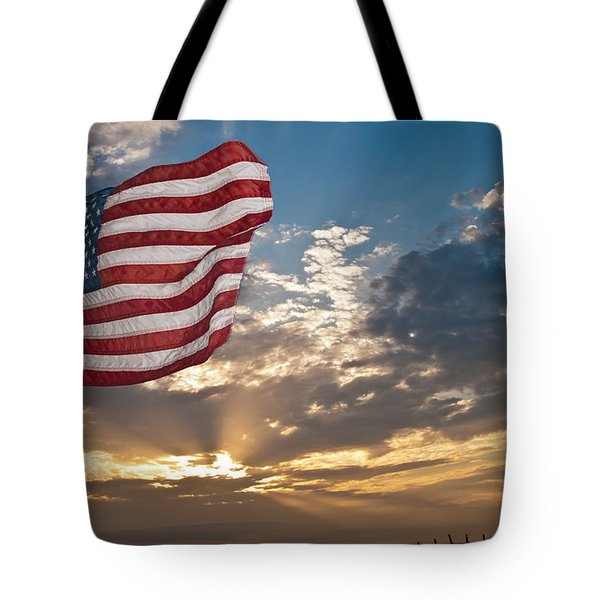 Tote Bag featuring the photograph Old Glory by John Collins