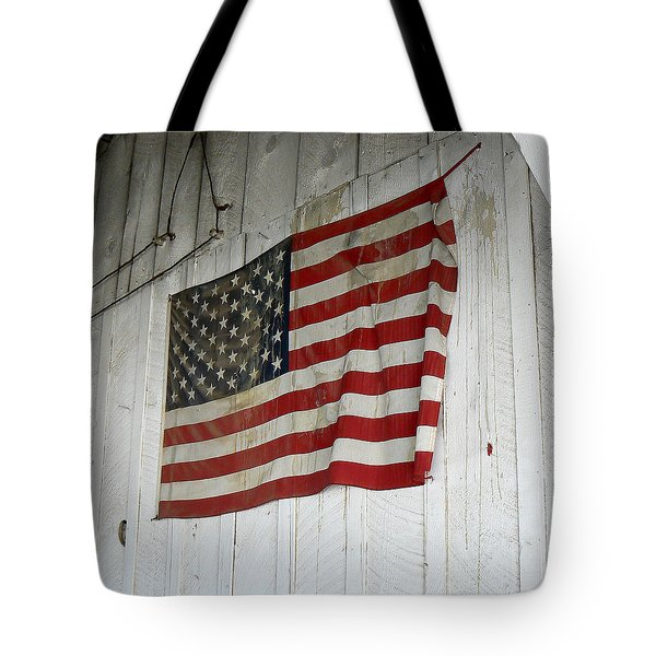 Old Glory Tote Bag by Laurel Powell