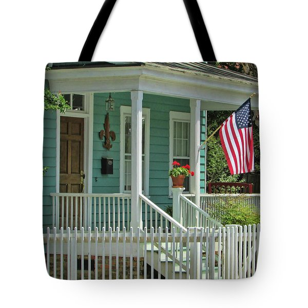 Old Glory Tote Bag by Victor Montgomery