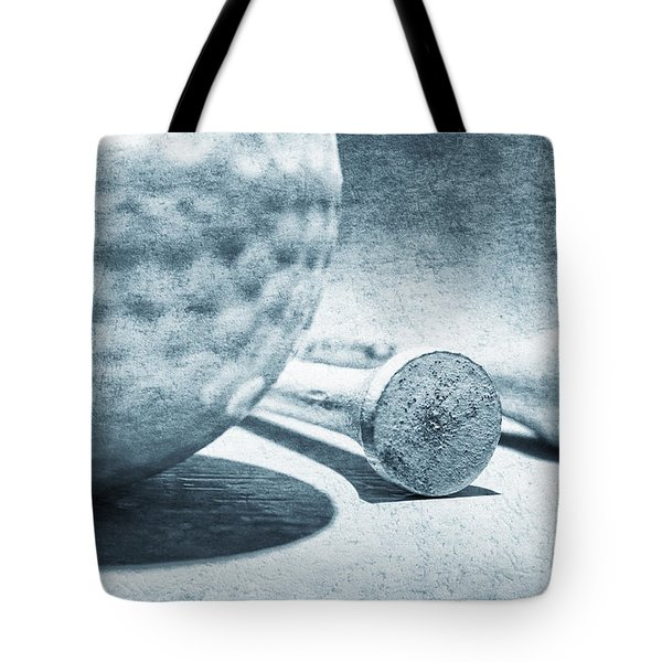 Old Golf Ball And Tees Tote Bag by Charline Xia