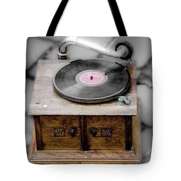 Old Gramophone Tote Bag
