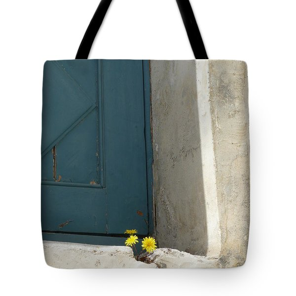 Old Greek Door Tote Bag