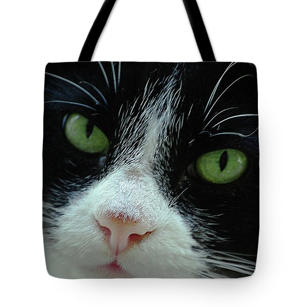 Old Green Eyes Tote Bag by DigiArt Diaries by Vicky B Fuller