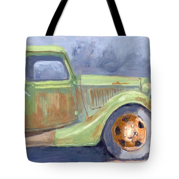 Old Green Ford Tote Bag