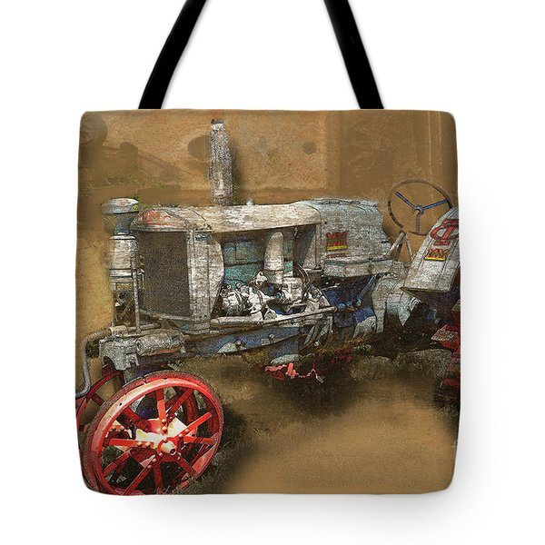 Old Grey Tractor Tote Bag