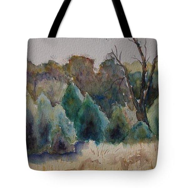 Tote Bag featuring the painting Old Growth Forest by Patsy Sharpe