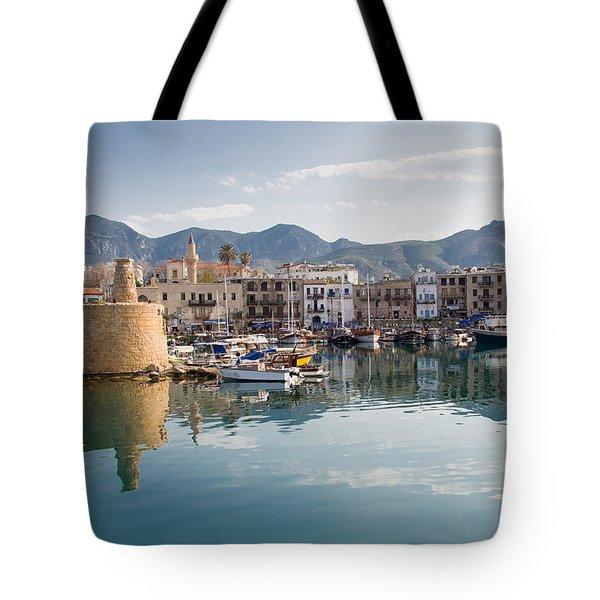 Old Harbour Of  Kyrenia Tote Bag