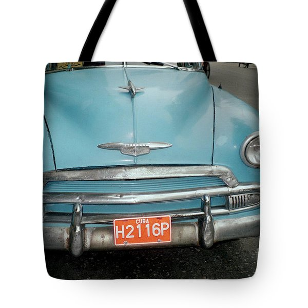 Old Havana Cab Tote Bag by Quin Sweetman