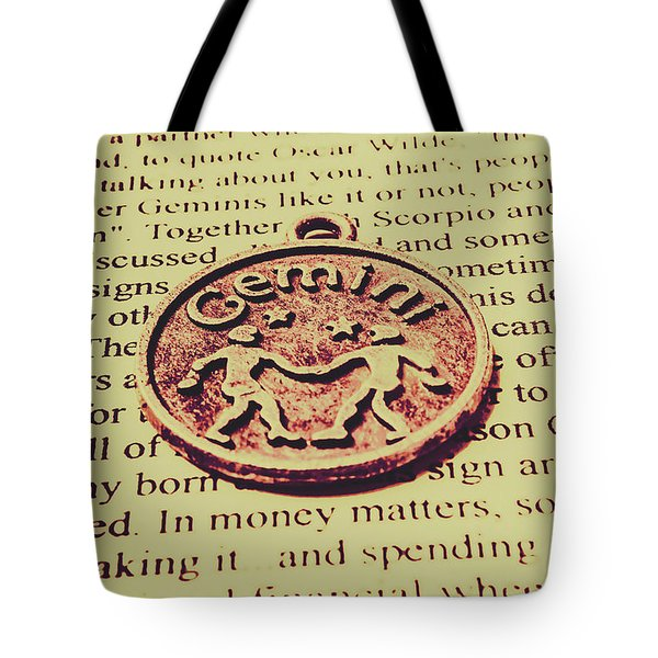 Old Horoscope Of Gemini Tote Bag