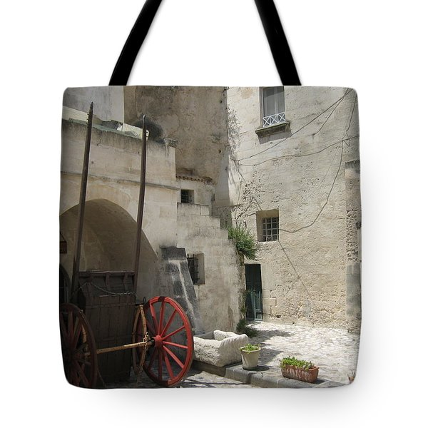 Old Horsecart In Matera Tote Bag
