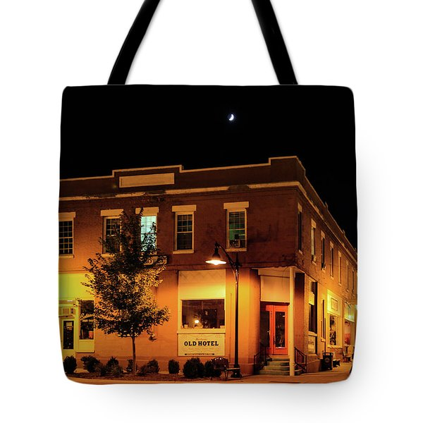 Old Hotel Moonlight Tote Bag