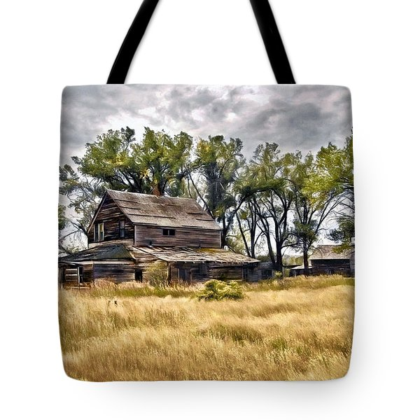 Old House And Barn Tote Bag by James Steele