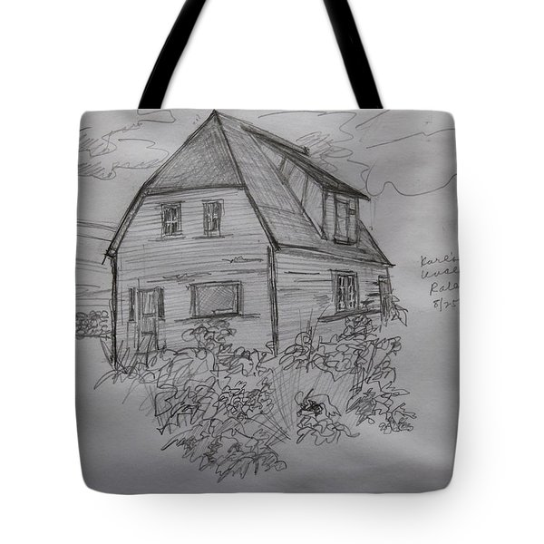 Old House In Raleigh Tote Bag