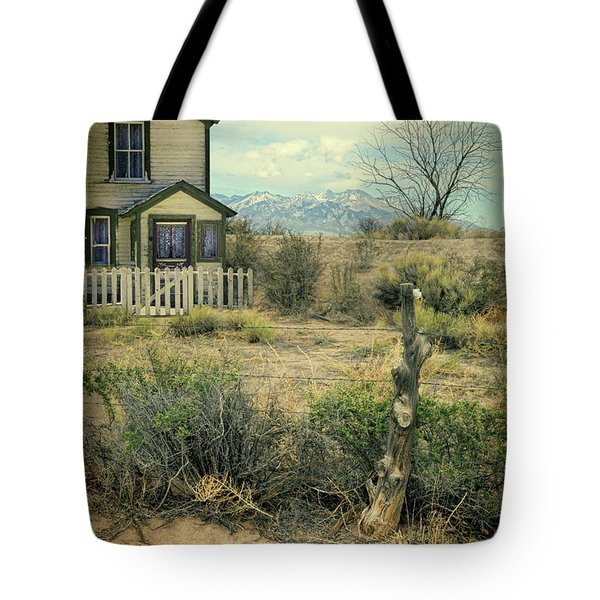 Tote Bag featuring the photograph Old House Near Mountians by Jill Battaglia