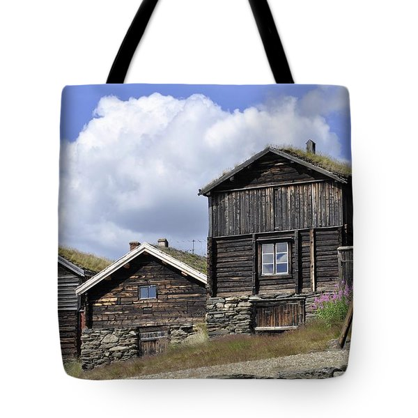 Old Houses In Roeros Tote Bag