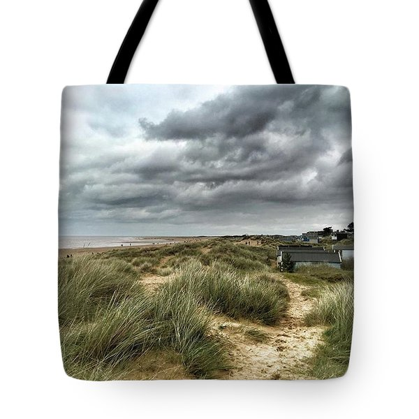Old Hunstanton Beach, North #norfolk Tote Bag by John Edwards