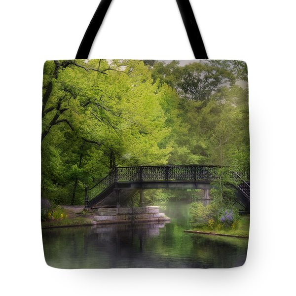 Tote Bag featuring the photograph Old Iron Bridge by Robin-Lee Vieira
