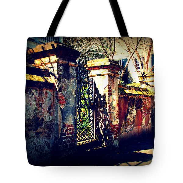 Old Iron Gate In Charleston Sc Tote Bag