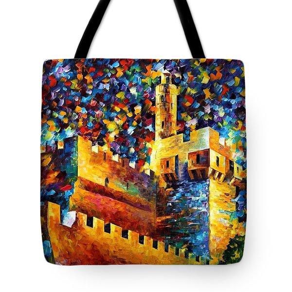 Old Jerusalem Tote Bag by Leonid Afremov
