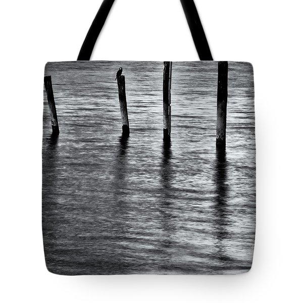 Tote Bag featuring the photograph Old Jetty - S by Werner Padarin