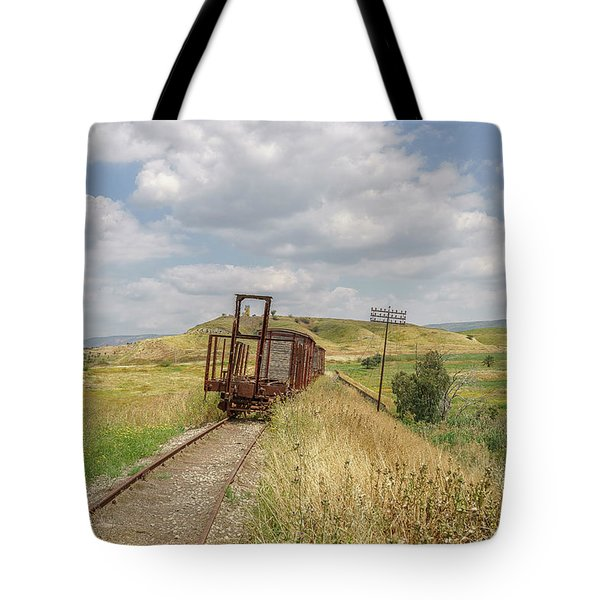 Jezre'el Valley Old Railway Station Tote Bag by Uri Baruch