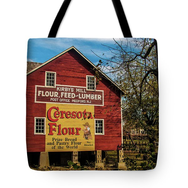 Tote Bag featuring the photograph Old Kirby's Flower Mill by Louis Dallara