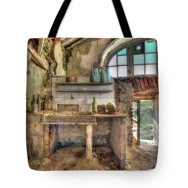 Tote Bag featuring the photograph Old Kitchen - Vecchia Cucina by Enrico Pelos