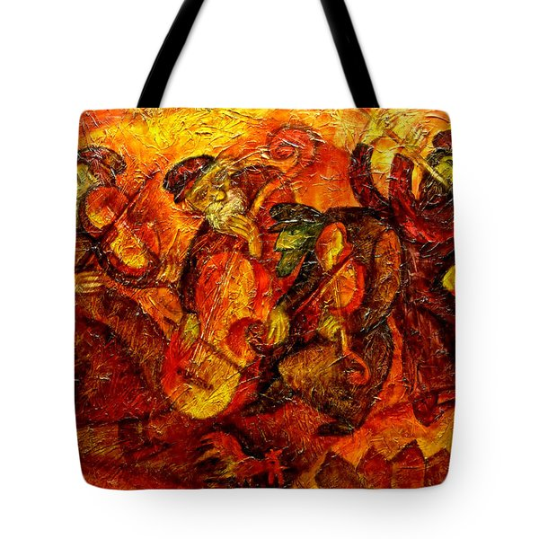 Old Klezmer Band Tote Bag