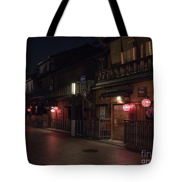 Old Kyoto Lanterns, Gion Japan Tote Bag