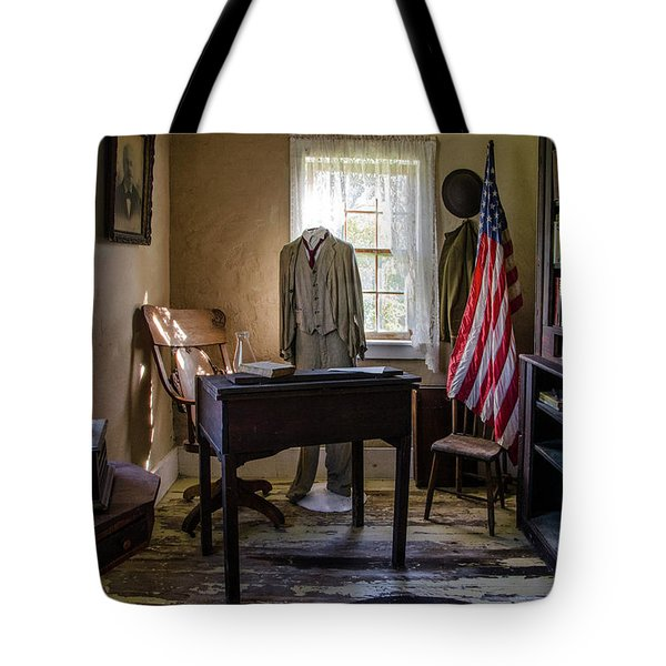 Tote Bag featuring the photograph Old Library by Ann Bridges