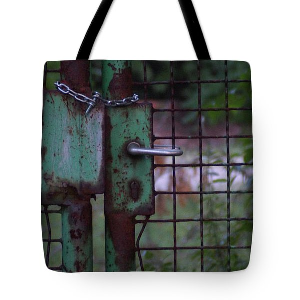 Old, Locked And Rusty Tote Bag